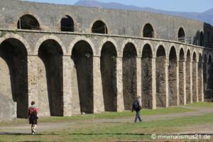 Das alte Amphitheater in Pompeji