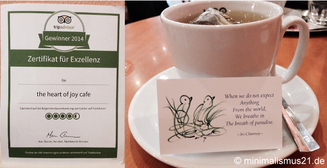 The Heart of Joy Café in Salzburg: zu Recht ausgezeichnet!